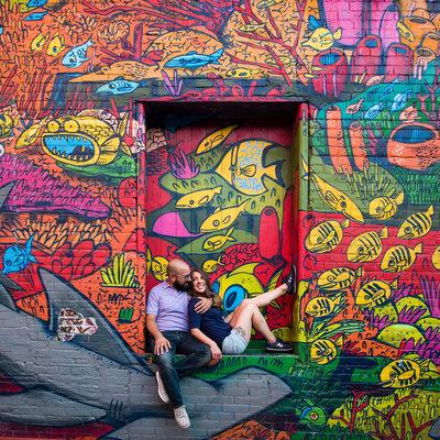 Chillin' in Toronto's Graffiti Alley