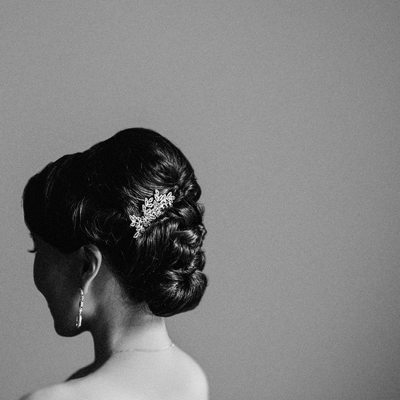 Bride's Hairpiece and Hair