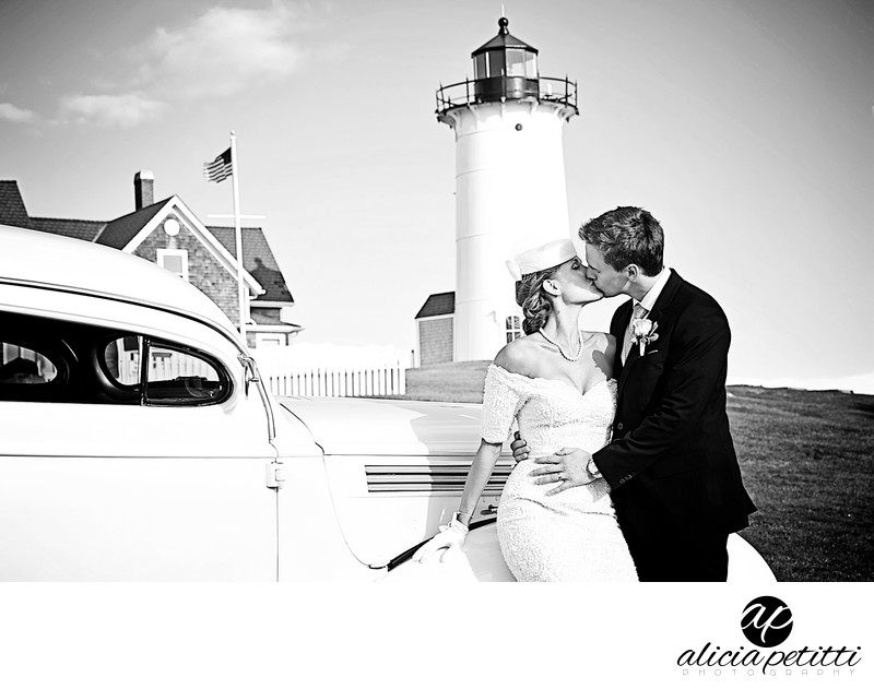 Cape Cod's Nobska Light Wedding Photo