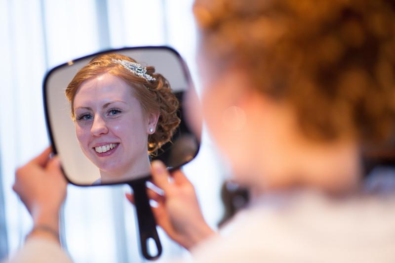 Peak Edge Hotel Wedding Mirror Reflection