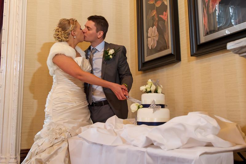 Kenwood Hall Wedding Cake Cutting