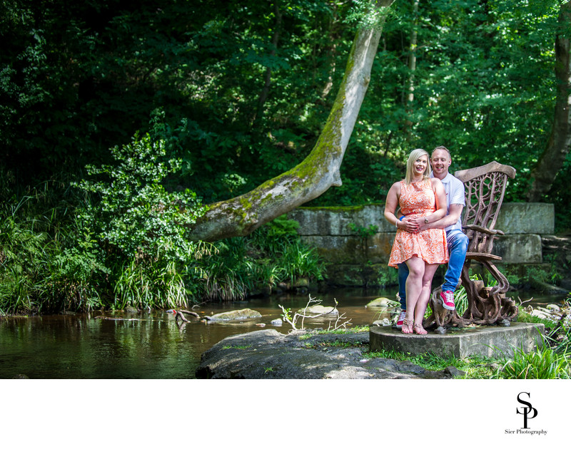 Engagement Photography by the river Rivelin