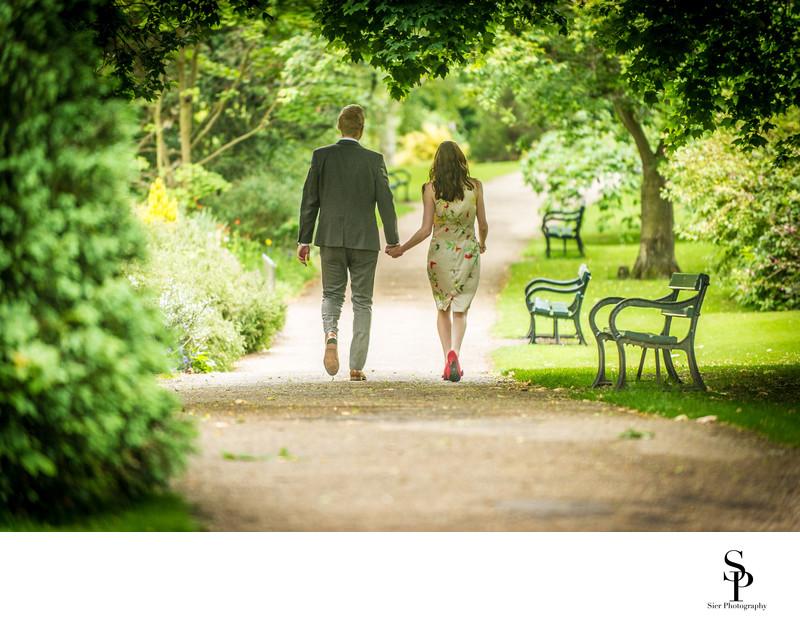 SBotanical Gardens Engagement Photography