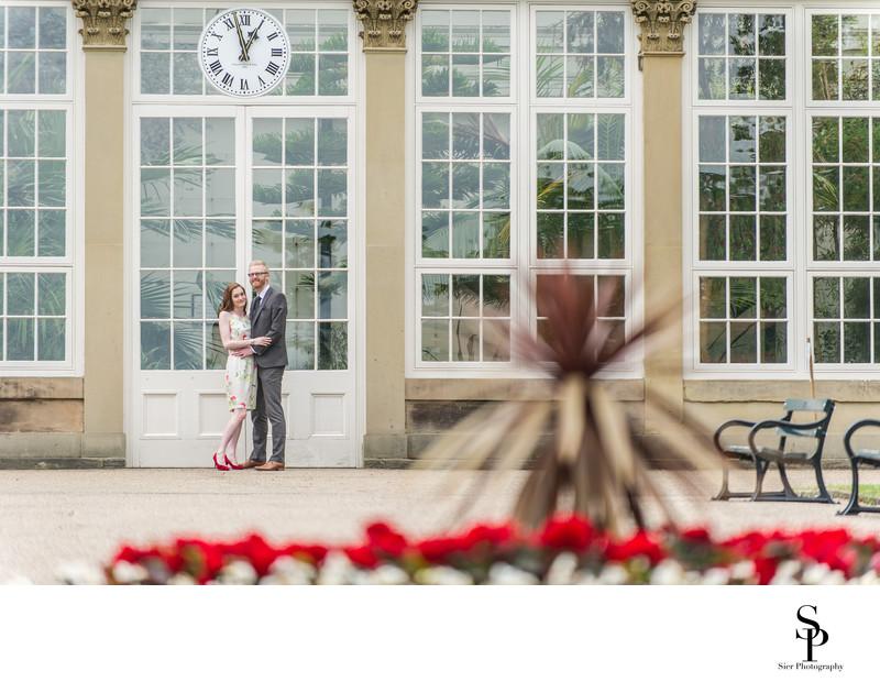 Botanical Gardens Glasshouse Engagement Photography