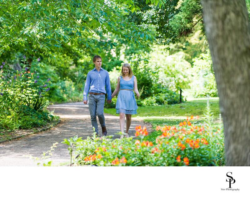 Botanical Gardens Engagement Photos