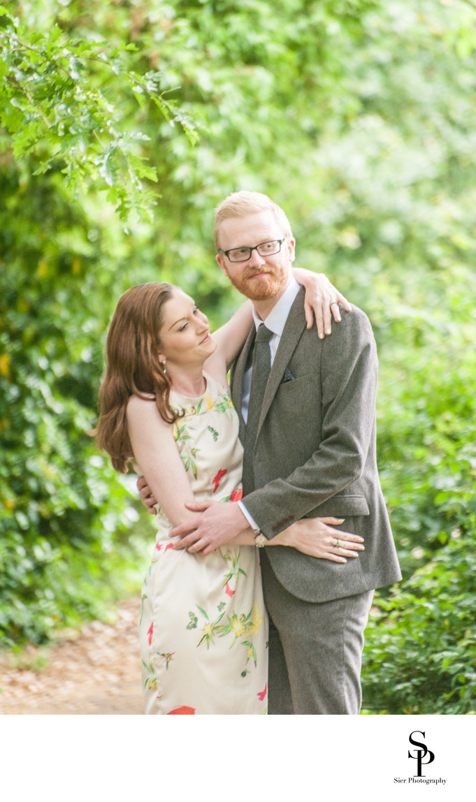 Botanical Gardens Engagement Photo