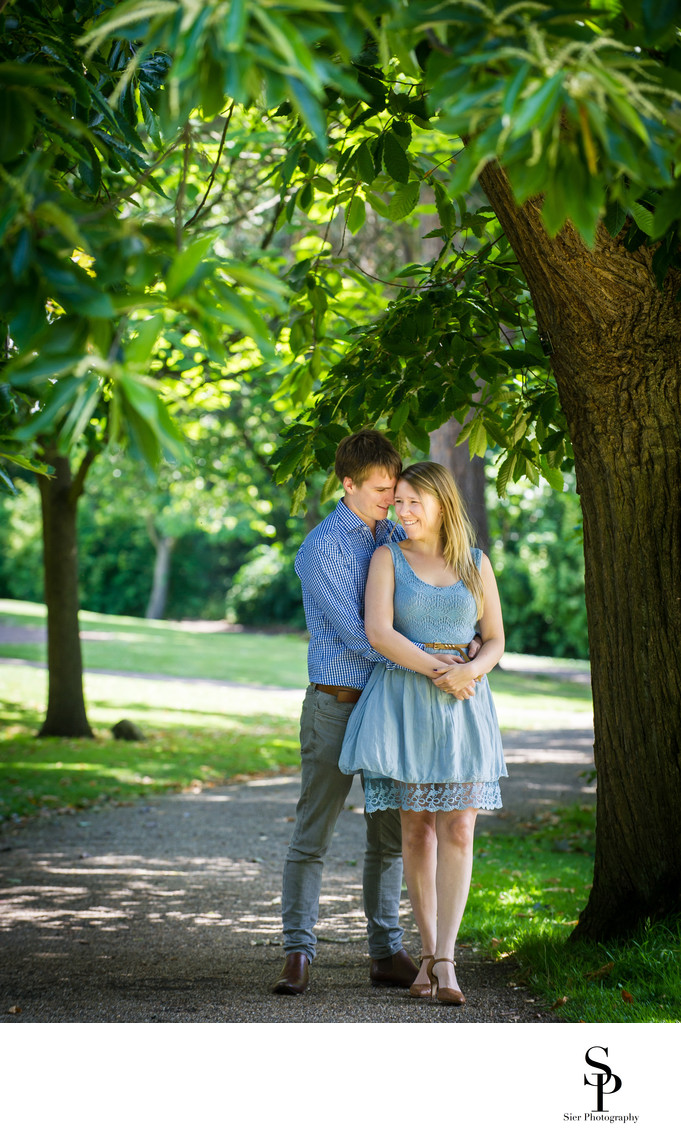 Botanical Gardens Sheffield Engagement Photograph