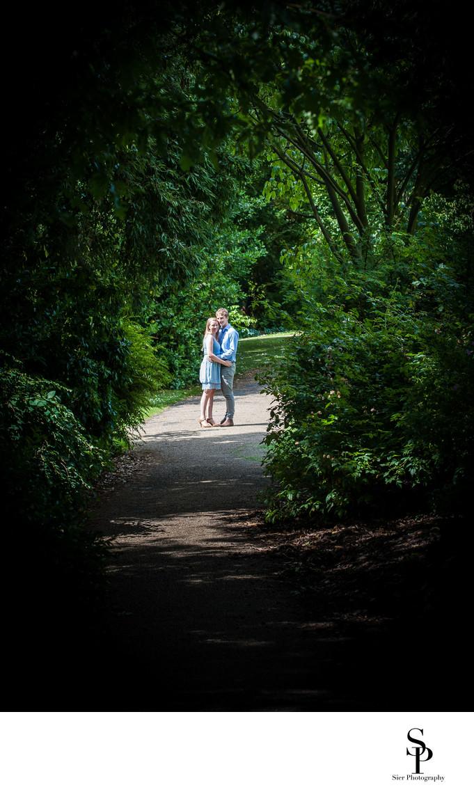 Botanical Gardens Sheffield Engagement Photography