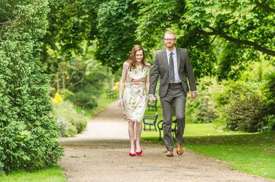 Sheffield Botanical Gardens Engagement Picture