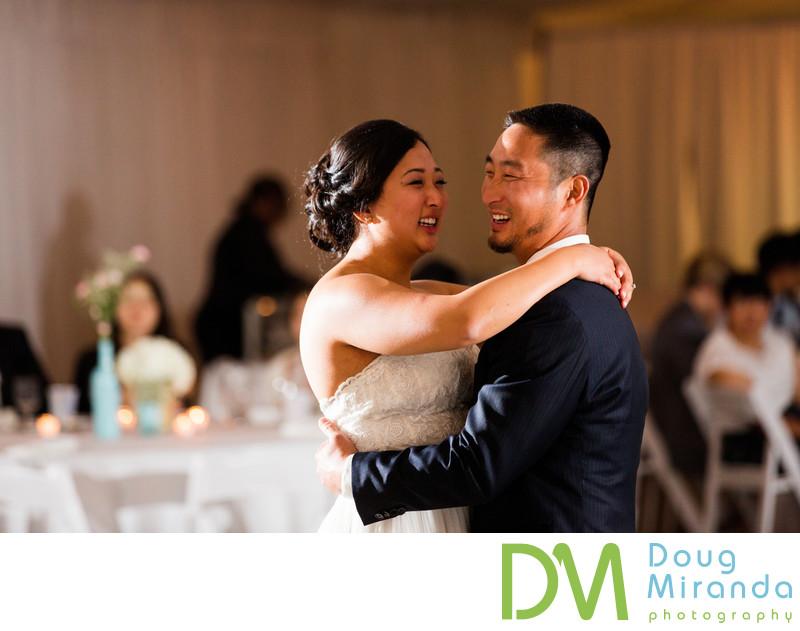 haggin oaks wedding reception first dance photos