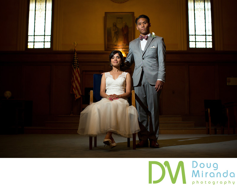 Sacramento Masonic Temple Wedding Photography