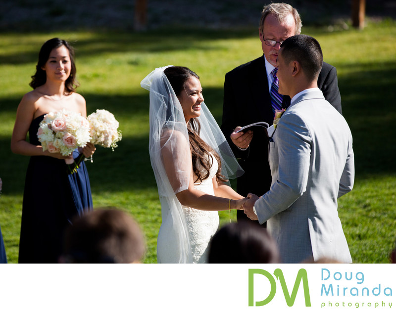 Wedding Ceremony Photos at Northstar California