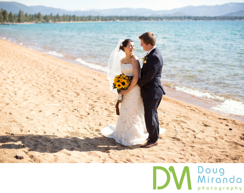 Beach Wedding Photography at Edgewood Tahoe Golf Course