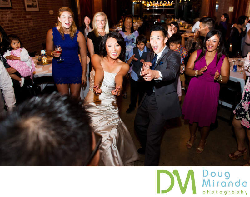 Bride and Groom Dancing at Old Sugar Mill
