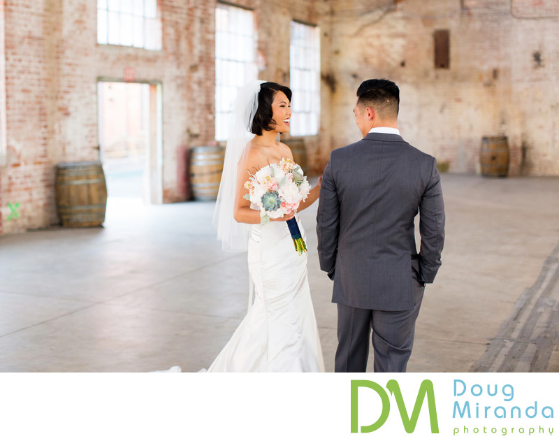 Old Sugar Mill Wedding First Look Pictures