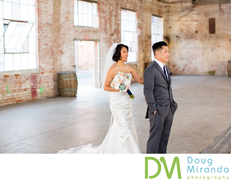 Old Sugar Mill Wedding First Look Photography