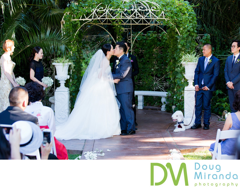 Grand Island Mansion Outdoor Wedding Ceremony Pictures