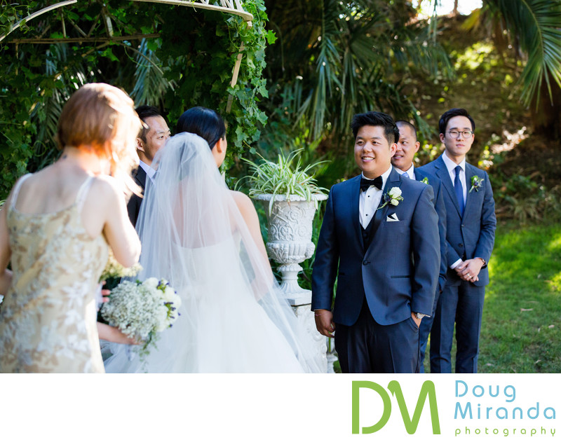 Outdoor Wedding Ceremony at Grand Island Mansion