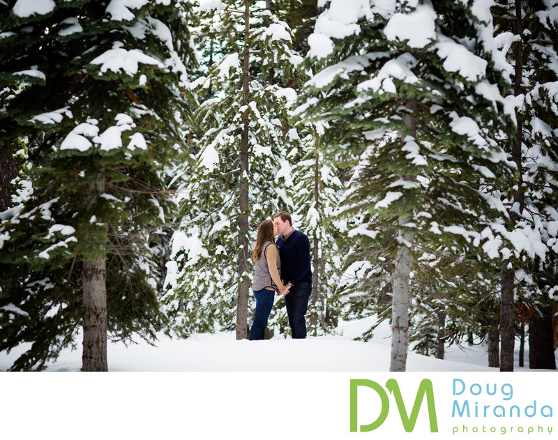 Winter Lake Tahoe Engagement