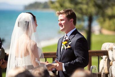 Wedding Ceremony Photos at Edgewood Tahoe Golf Course