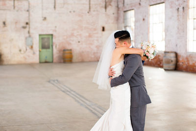 First Look Wedding Photography at Old Sugar Mill