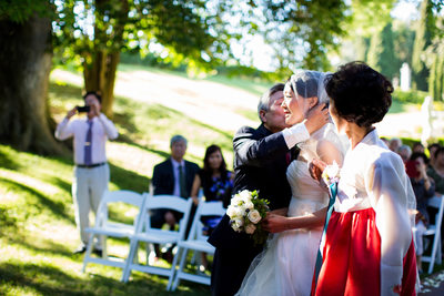 Wedding Ceremony at Grand Island Mansion