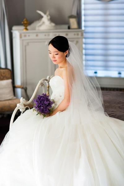 Bridal Wedding Portraits at Grand Island Mansion