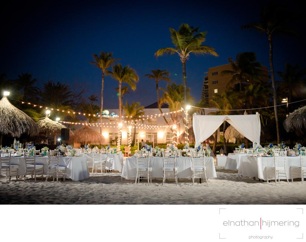 beach reception setup - Modern Beach Wedding Dress