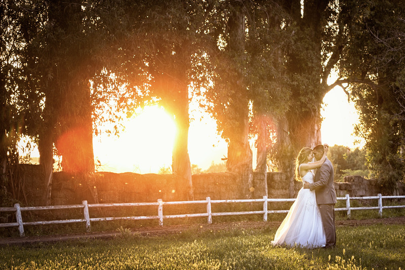 bride and groom at walnut grove venue