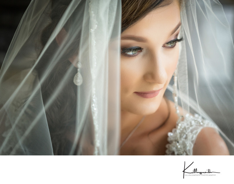 bridal close up of bride at the newhall mansion