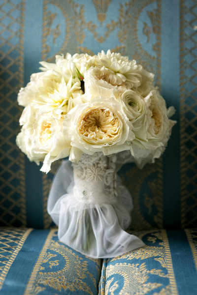 beautiful bouquet at newhall mansion