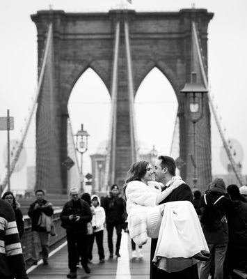 brooklyn bridge wedding pics