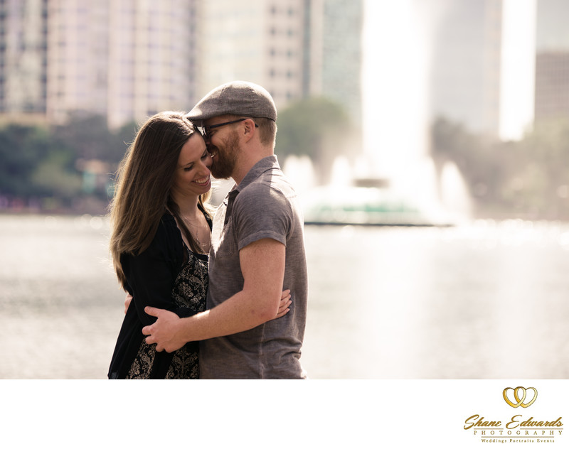 lake eola engagement photographer