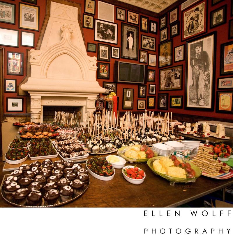 Candid detail photo of lavish desserts