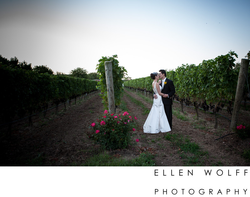 Baiting Hollow Long Island vineyard wedding photography