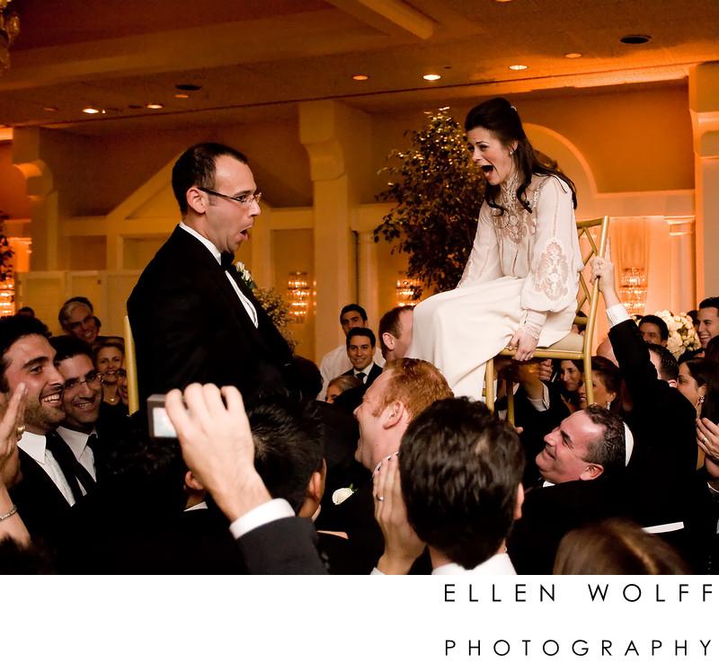 the wedding hora at Temple Beth Sholom Roslyn Heights LI NY
