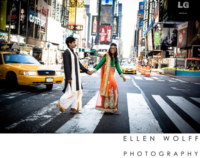 times sq NYC engagement photo