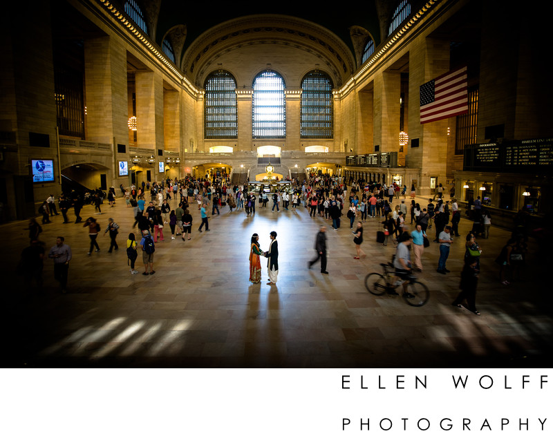 Grand Central Station engagement photo