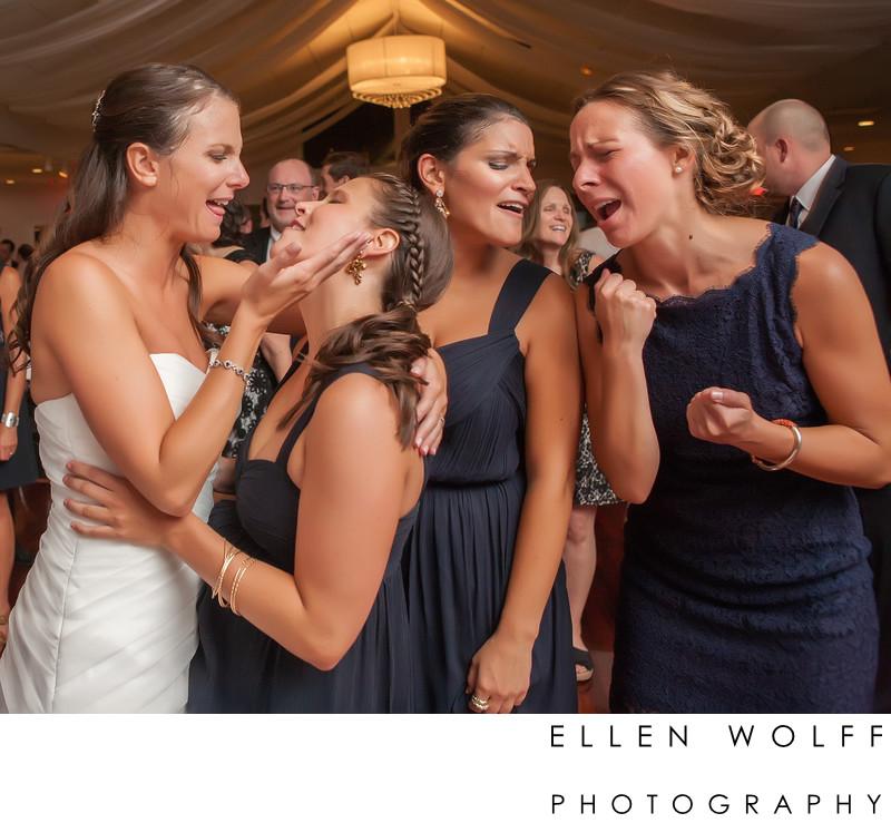 FlowerField Wedding dance floor candid