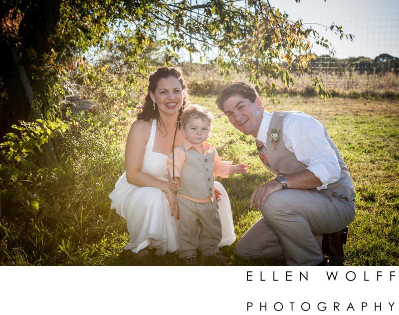 Summer vineyard wedding
