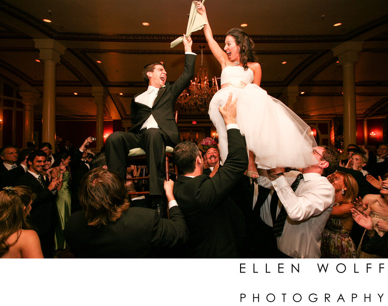 an ecstatic wedding hora at equinox resort vermont