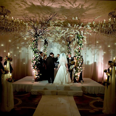 under the chuppah at the garden city hotel