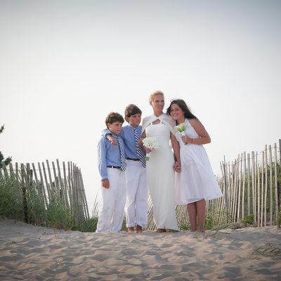 l i beach wedding photo