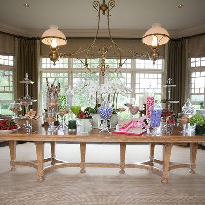Southampton bridal shower dessert table