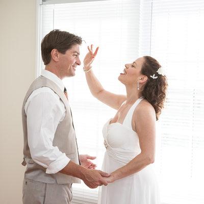 Laurel Lake vineyard wedding photo