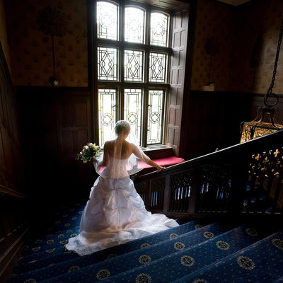 back of the wedding gown at Waveny House New Cannan
