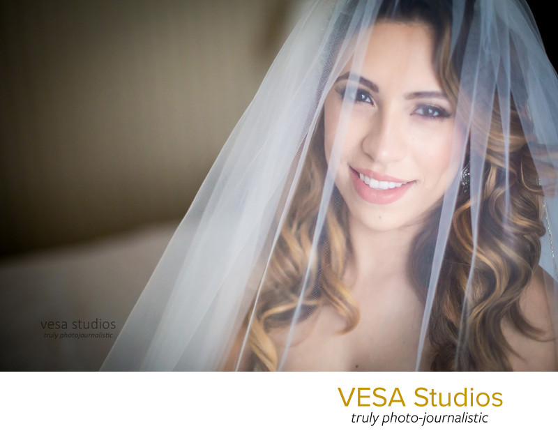 Gorgeous veil portrait of the Bride at the Westmount