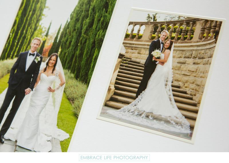 Hand Crafted Elegant Greystone Mansion Wedding Album