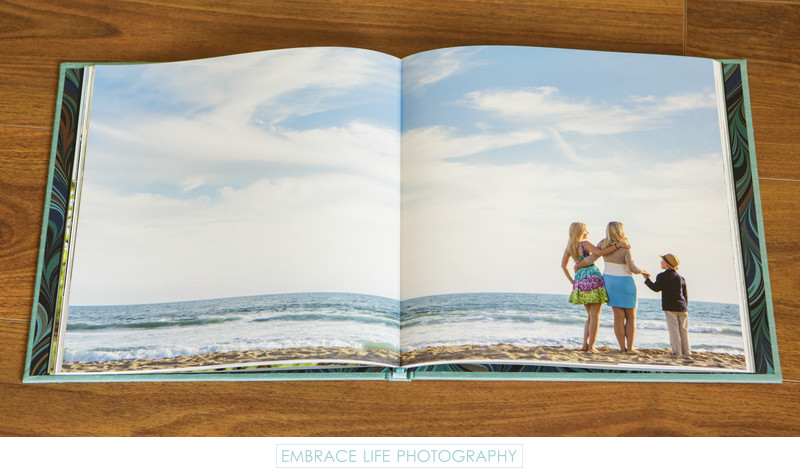 Santa Monica Portrait Photography Book Two Page Spread