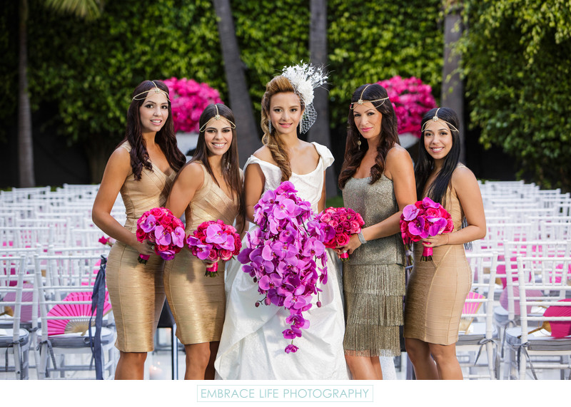 Los Angeles Wedding Photographer, Bride and Bridesmaids